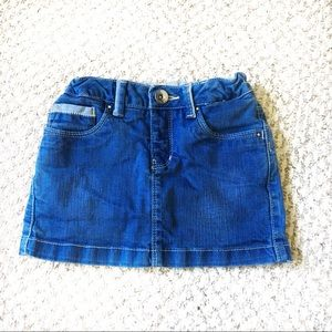 Zara Kids Jean Skirt Girls Size 5-6 Adjustable